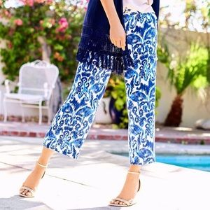 LILLY PULITZER | Blue Lela Wide Leg Crop Pants
